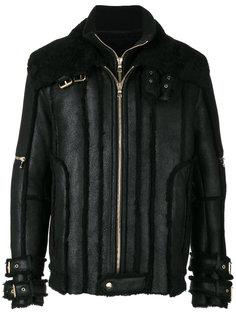 куртка с отделкой из овчины Balmain