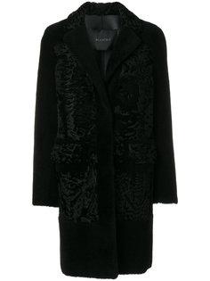 однобортное пальто  Blancha