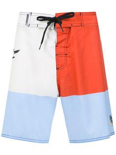 color block swimming shorts Osklen