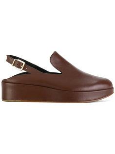 туфли-лодочки на платформе с открытой пяткой Robert Clergerie