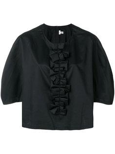 блузка с круглым вырезом и оборками Comme Des Garçons Comme Des Garçons