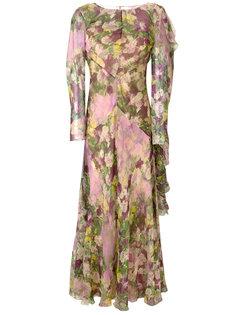 платье с цветочным принтом  Alberta Ferretti