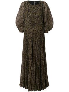 плиссированное платье с поясом Etro