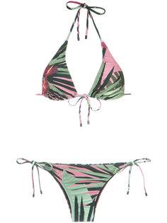 foliage print bikini set Osklen