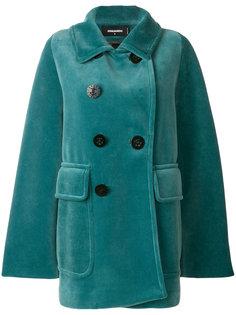 пальто с пуговицами-якорями  Dsquared2
