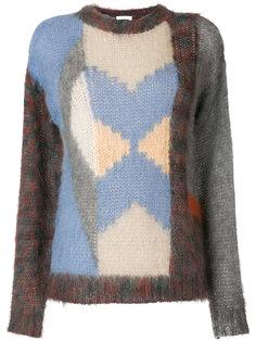 свитер дизайна колор-блок Chloé