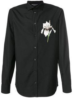 рубашка с цветочной вышивкой Alexander McQueen