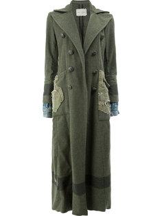 двубортное пальто  Greg Lauren