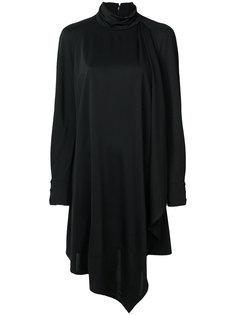 панельно платье с асимметричным подолом Carven