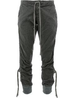 двухцветные брюки в стиле милитари Greg Lauren