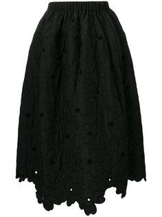 пышная юбка с цветочным мотивом Simone Rocha