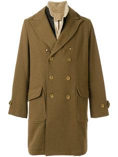 двубортное пальто с воротником из овечьей шерсти East Harbour Surplus