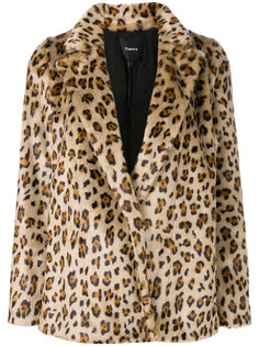 куртка А-силуэта с леопардовым принтом Theory
