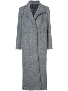 длинное пальто с потайной застежкой  Rachel Comey