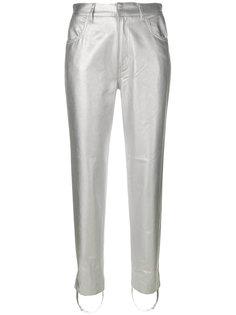 приталенные брюки с металлическим отблеском Golden Goose Deluxe Brand