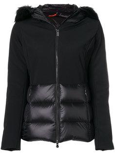 куртка-пуховик с капюшоном и лисьим мехом Rrd