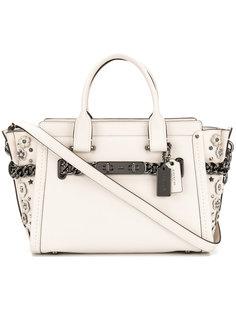 сумка-тоут с цветочной аппликацией Coach