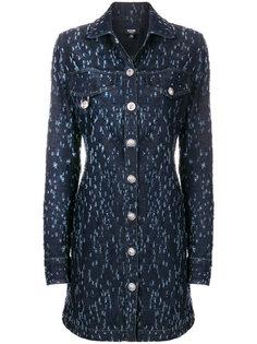 состаренное джинсовое платье-рубашка  Versus