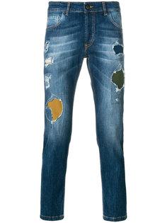 джинсы прямого кроя с потертой отделкой Entre Amis