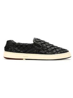 textured slip-on sneakers Osklen