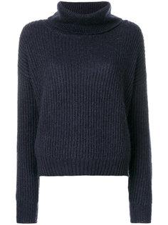 пуловер с ребристой фактурой с воротником с заворотом Markus Lupfer