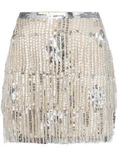 юбка с пайетками и бахромой Mes Demoiselles