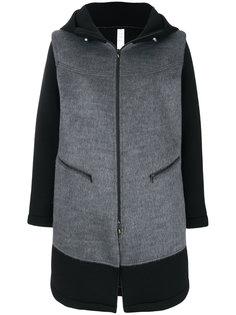 пальто с капюшоном и вставками  Sàpopa
