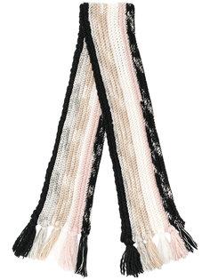 шарф крупной вязки в полоску Missoni