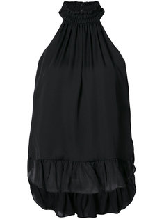 блузка с вырезом-халтер Cinq A Sept