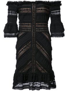 платье с кружевными панелями Cinq A Sept