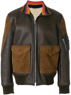 куртка-бомбер с контрастными карманами Paul Smith