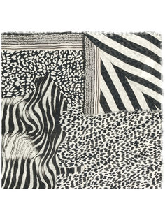 шарф в зебровую полосу Pierre-Louis Mascia