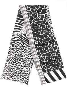 дутый шарф с зебровым принтом Pierre-Louis Mascia