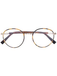 очки в круглой оправе с эффектом черепашьего панциря Cutler & Gross