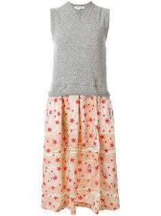 трикотажное платье с принтом на юбке Comme Des Garçons Comme Des Garçons