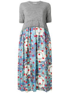 платье с принтом на юбке  Comme Des Garçons Comme Des Garçons