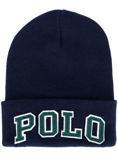 вязаная шапка с вышивкой Polo Polo Ralph Lauren