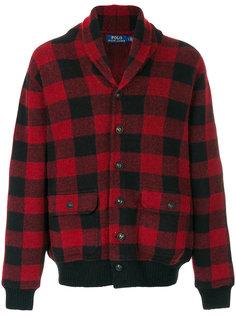 клетчатая трикотажная куртка с капюшоном Polo Ralph Lauren
