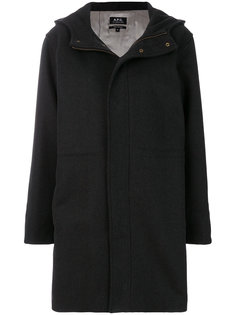 пальто-дафл с капюшоном  A.P.C.
