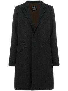 строгое пальто на пуговицах  A.P.C.