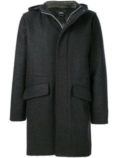пальто с капюшоном A.P.C.