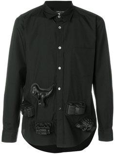 рубашка с отдекой 3D Comme Des Garçons Homme Plus