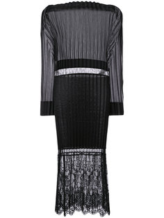 плиссированное платье миди Carey Stella McCartney