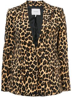 leopard print blazer Frame Denim
