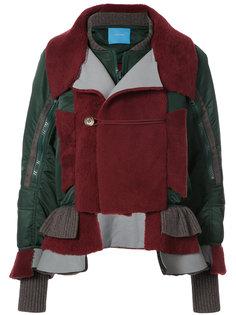 куртка-бомбер с контрастными панелями Undercover
