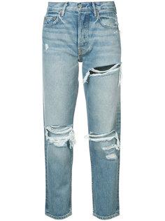 джинсы бойфренда с рваной отделкой Grlfrnd