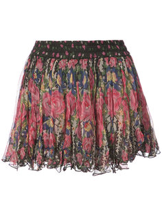 мини-юбка с цветочным принтом Mes Demoiselles