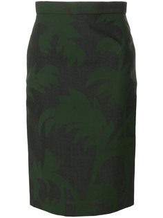 leaf print pencil skirt Vivienne Westwood