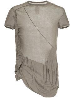 прозрачная асимметричная футболка Rick Owens