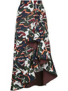 драпированная юбка с камуфляжным принтом Dion Lee